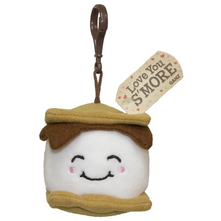 I love You S'More Plush S'mores Key/ Backpack Clip