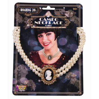 ROARING 20'S CAMEO NECKLACE