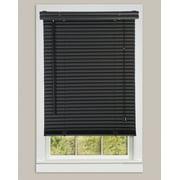 Window Blinds Mini 1 Slats Black Venetian Vinyl Blind