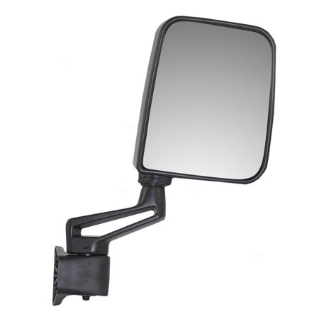 Passengers Manual Side View Mirror Ready-to-Paint Door Hinge Mounted Replacement for Jeep SUV