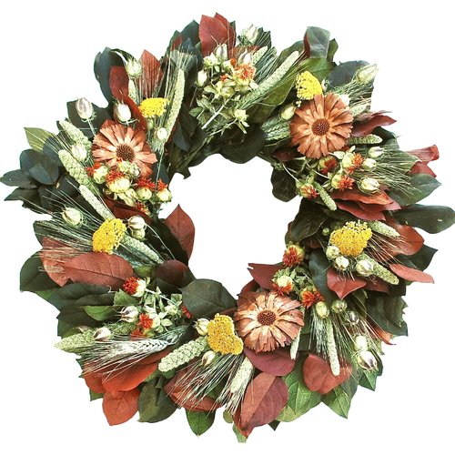 Dried Flowers and Wreaths LLC Cone Flower Wreath