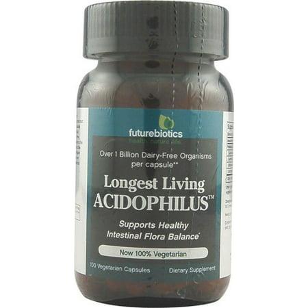 - Futurebiotics Probiotics Longest Living Acidophilus 1 billion CFUs - 100 Vegetarian Capsules