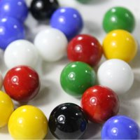 Mega Game Replacment Marbles 14mm -Solid Glass-30 Pieces - Chinese Checkers, Crafting (Muli)