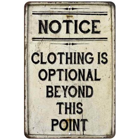 Clothing is Optional Beyond This Vintage Look Chic Distressed