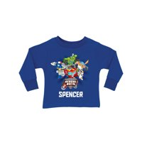 Personalized Transformers Rescue Bots Royal Blue Toddler Boys' Long Sleeve T-Shirt