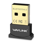 Wavlink Bluetooth 4.0 USB Adapter Gold Plated Micro Dongle 33ft/10m Compatible with Windows 10,8.1/8,7,Vista, XP, 32/64 Bit for Desktop, Laptop, computers