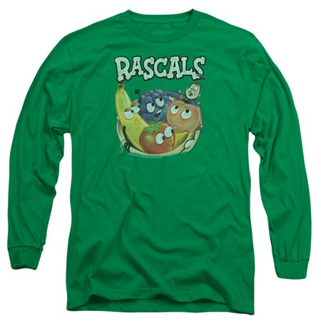 DUBBLE BUBBLE/RASCALS - L/S ADULT 18/1 - KELLY GREEN - MD