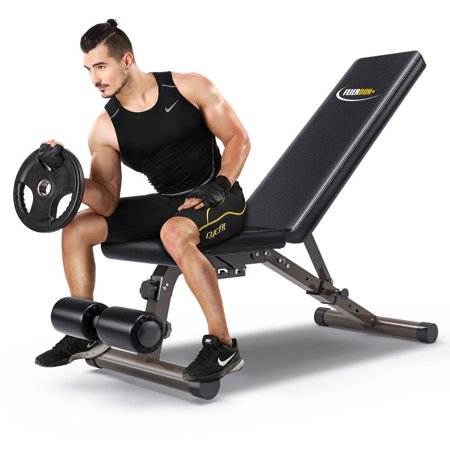 Weight Bench Multi Function Workout Bench 882 Lbs Capacity Feierdun Adjustable Gym Bench 5 Back Pad Positions From Flat Incline Decline With 3
