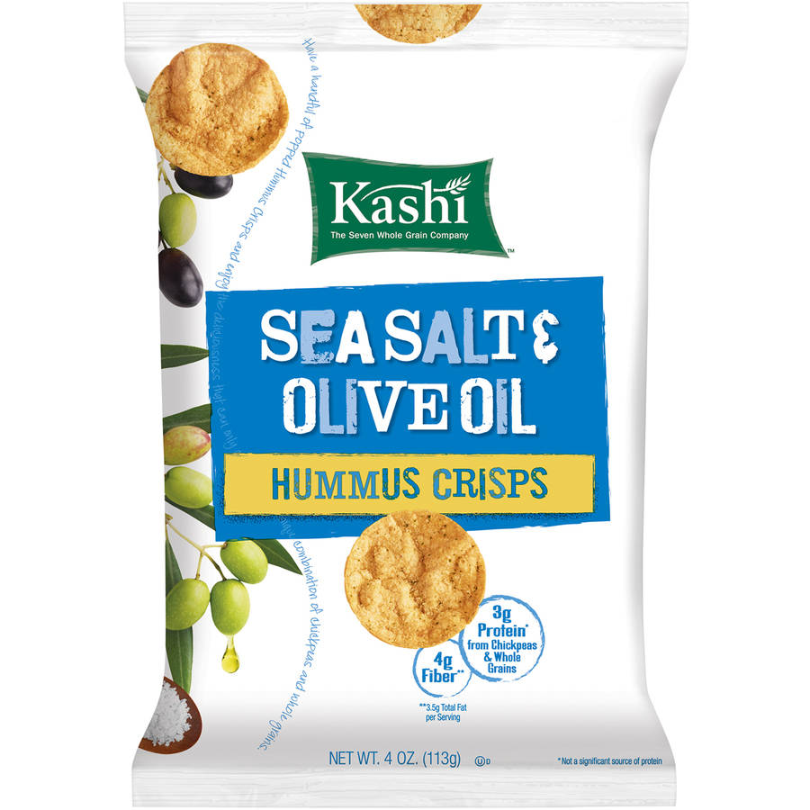 Kashi Sea Salt & Olive Oil Hummus Crisps, 4 ounce