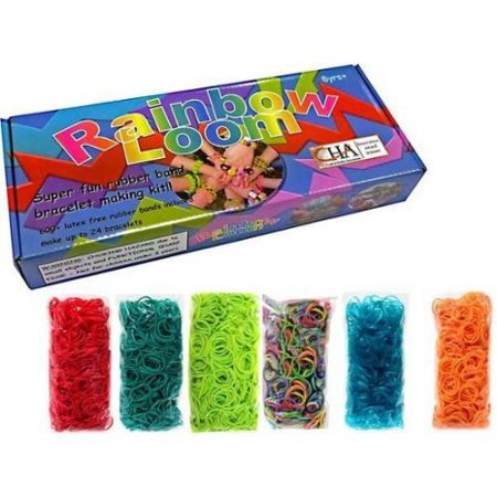 Rainbow Loom Crafting Kit includes Loom, Metal Hook, Mini Rainbow Loom, 600 Rubber Bands + 24 Clips - image 2 of 2