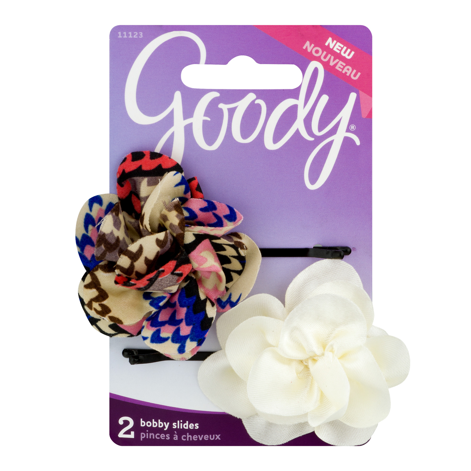 Goody Fabric Flower Bobby Slides 2ct