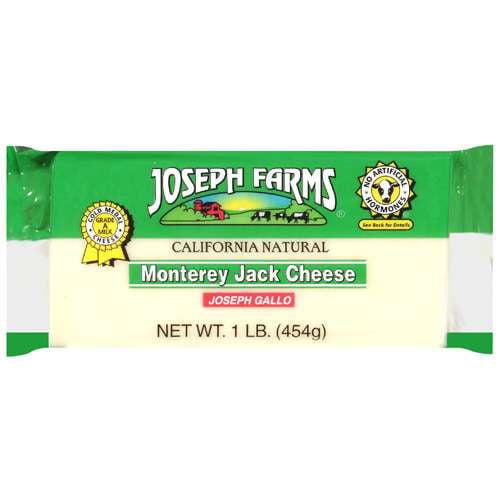 Joseph Farms Monterey Jack Cheese, 1 lb