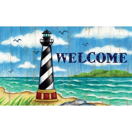 Hatteras Lighthouse Coastal Welcome Accent Rug Mat 30 X 18 - Hatteras Rug