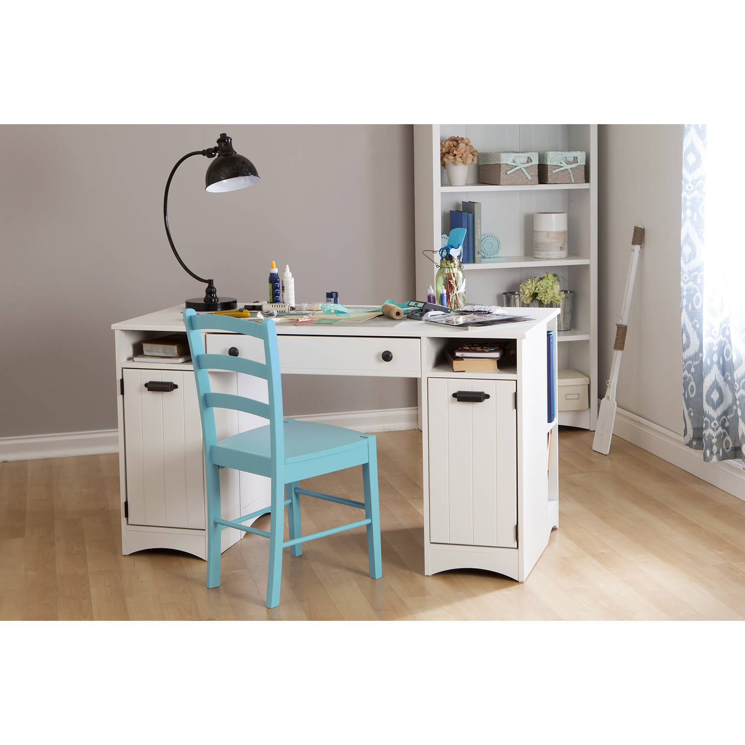 South Shore Artwork Craft Table with Storage, Multiple Finishes