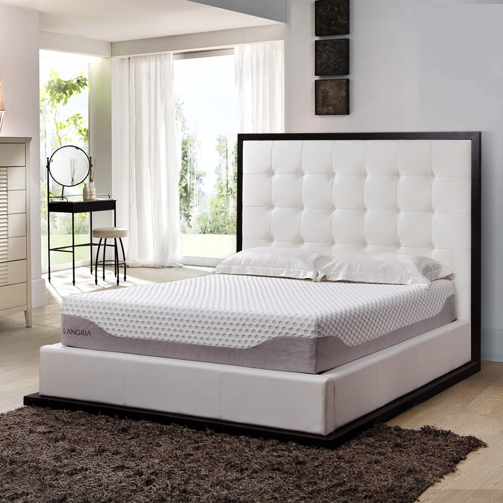 "LANGRIA 10"" Cool Gel Memory Foam Bed Mattress Triple Laye..."
