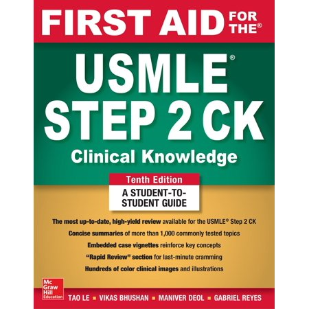 First Aid for the USMLE Step 2 Ck, Tenth Edition (First Aid Step 2 Cs Latest Edition)