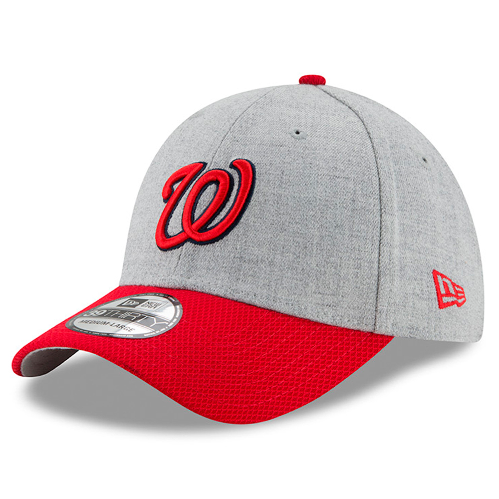 Washington Nationals New Era Change Up Redux 39THIRTY Flex Hat - Heathered Gray/Red