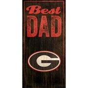 Georgia Bulldogs 6'' x 12'' Best Dad Sign