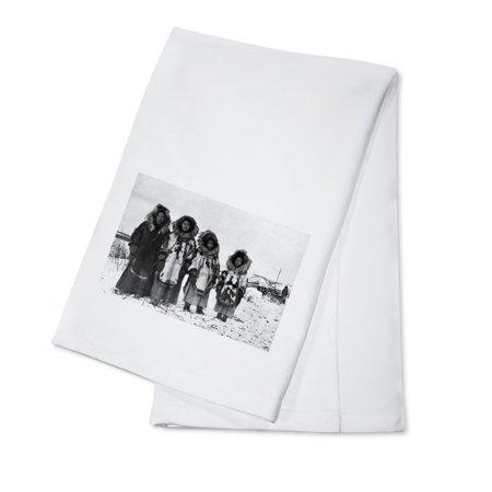 Eskimo Women In Alaska Photograph (100% Cotton Kitchen Towel)](Eskimo Women)