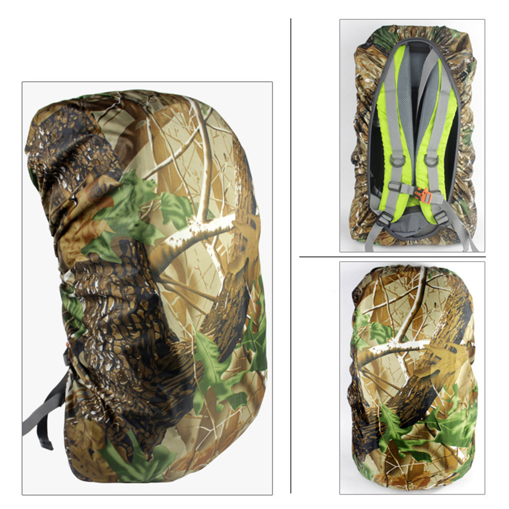 DZT1968 Waterproof Camo Rain Cover Travel Hiking Backpack Outdoor Camping Rucksack Bag
