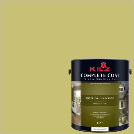 KILZ COMPLETE COAT Interior/Exterior Paint & Primer in One #LF260-01 Wasabi Wash