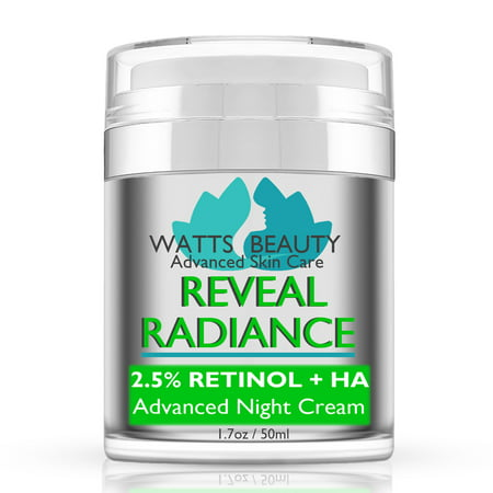 Watts Beauty Reveal Radiance Anti Aging 2.5% Retinol Cream with Hyaluronic Acid and Jojoba Oil - An Anti Wrinkle Retinol Face Moisturizer to Reveal and Maintain Your Radiant, More Youthful (Fresh Radiance Anti Aging Moisturizer)