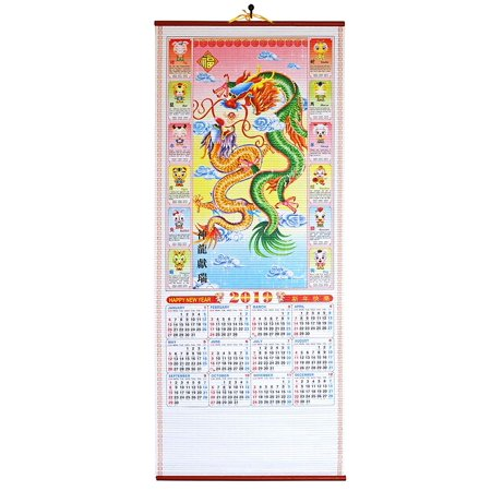 Feng Shui 2019 Chinese New Year Calendar Bring Prosperity and Good Luck to The Home Dragon Scroll Wall Calendar Business Gift Decor