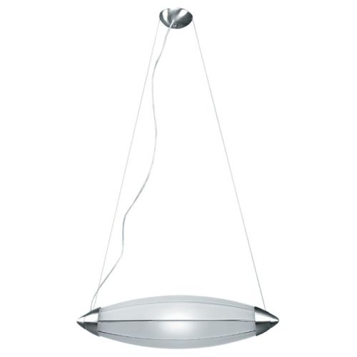 Lite Source LSI-1842PS/FRO 1 Light Pendant Lamp with Frost Glass Shade from the Franco Link Collection