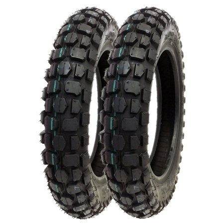 SET OF TWO: Knobby Tire 3.00 - 12 Front or Rear Trail Off Road Dirt Bike Motocross