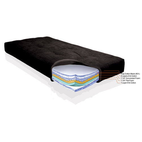 Elite Products Day Dreamer Cotton and Foam Luxe 6000 6'' Futon Mattress