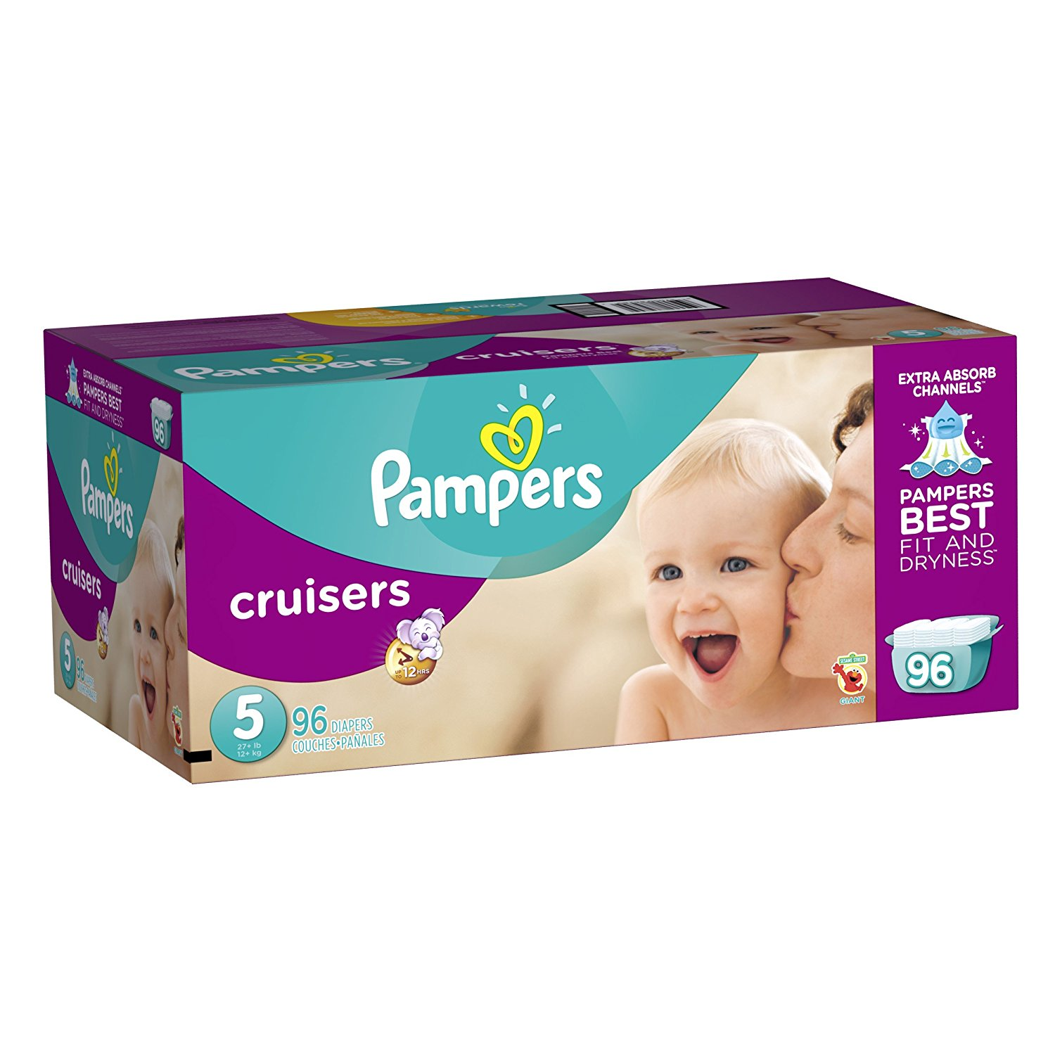 Pampers Cruisers Diapers Size 5, 96 Count
