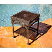 Tortuga Portside Patio End Table in Amber