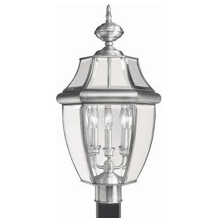Livex Lighting Monterey 3 Light Outdoor Post Lantern (01 Monterey Outdoor Light)