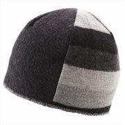icebox xob 860-2 trio beanie - black & grey, medium-large