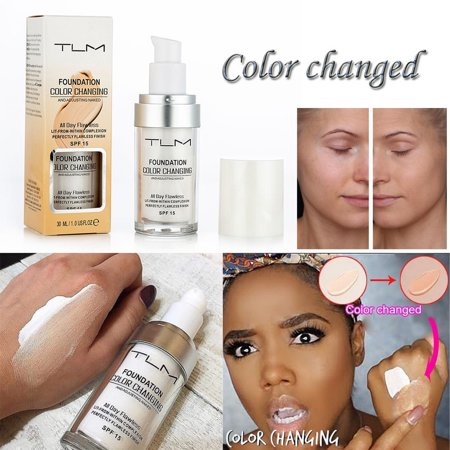 Colour Changing Foundation Makeup Base Nude Face Liquid Cover