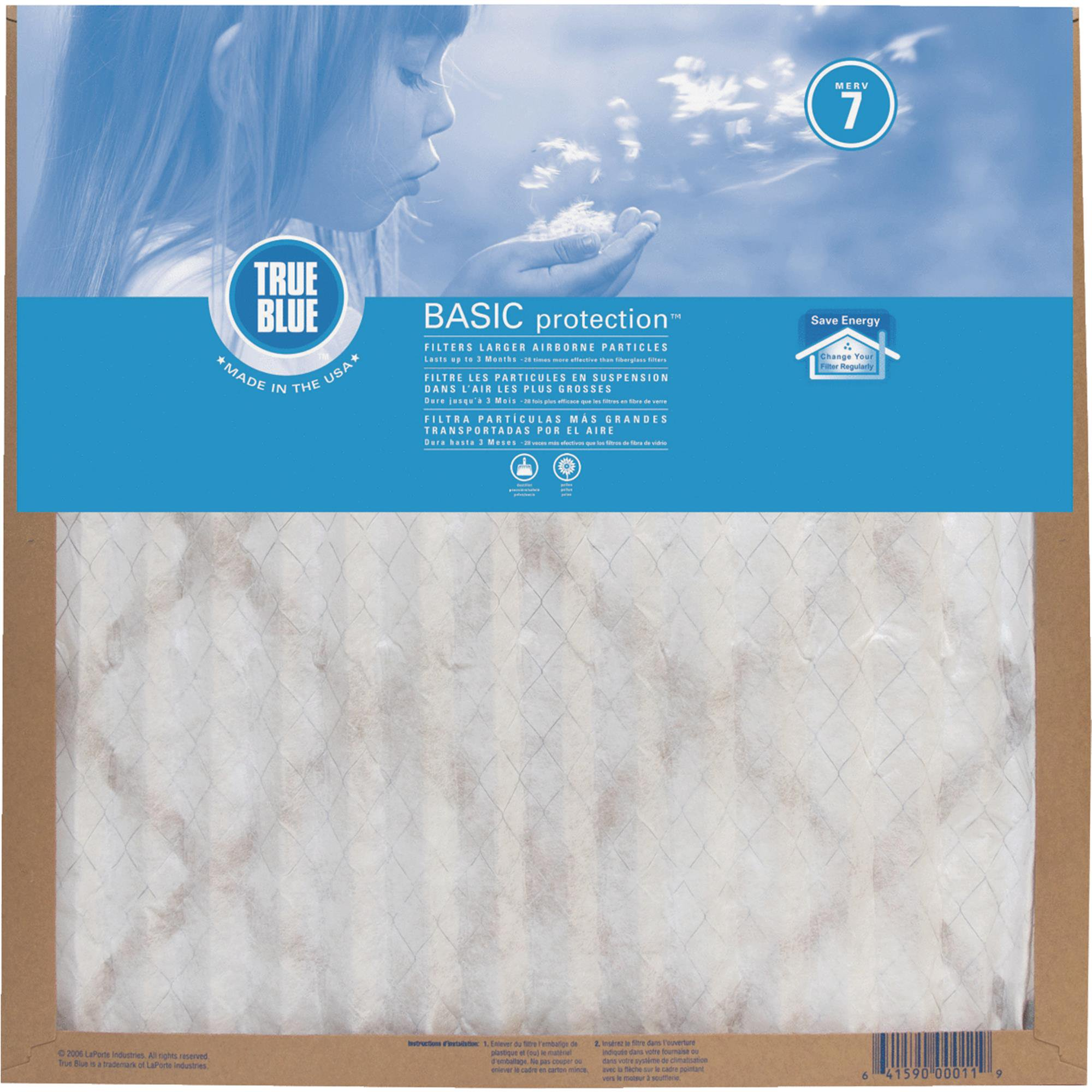 True Blue Basic Protection Furnace Filter