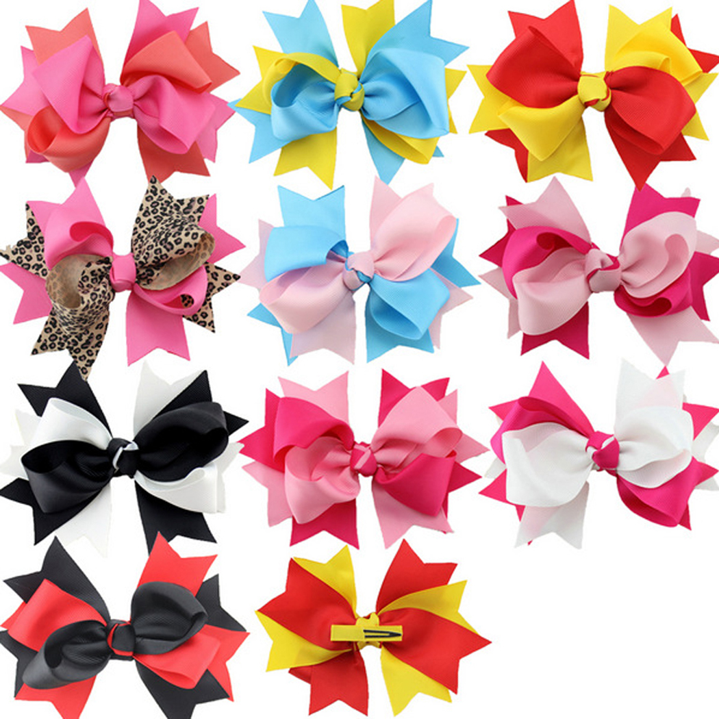 Hair Clips,Coxeer 11 Pack Cute Mixed Color Hair Bows Clips Alligator Clips Hair Accessories for Toddler Baby Girls Teen Girls Women