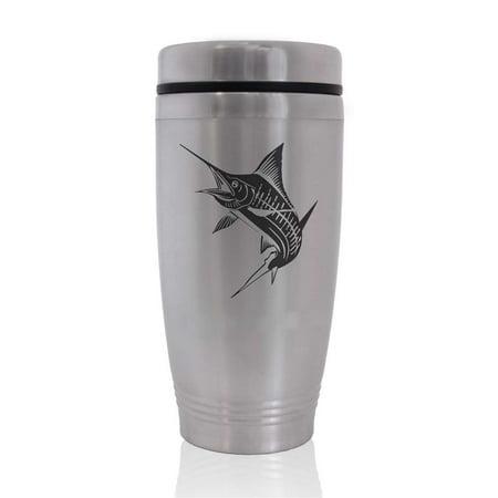 Commuter Travel Coffee Mug - Marlin Fish - Fish Mug