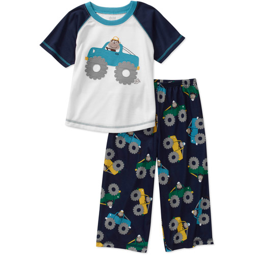 Child of Mine Carters Baby Boys' 2-Piece Truck Tee and Pant PJ Set