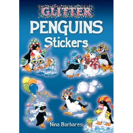 Glitter Penguins Stickers - Penguin Stickers