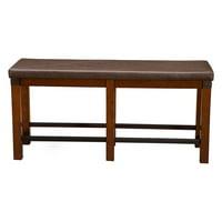 Alpine Furniture Artisan Counter Height Dining Bench