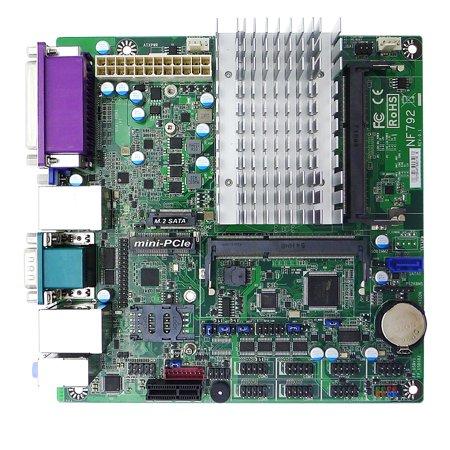 Jetway JNF792T2-3160 mini-ITX, Braswell, Fanless Intel Celeron N3160 SoC,2*LAN, 1*SATA3,M.2 SATA 2242-2260, 3 DP, HDMI, VGA, LVDS,mPCIE,SIM Socket, PCIEx1, COM, Parallel, USB, Audio, ATX power,TPM (Best Mini Atx Motherboard)