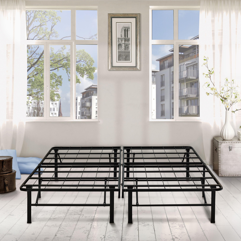 """Premier 14"""" High Profile Platform Metal Base Foundation Bed Frame with Under-Bed Storage,"""