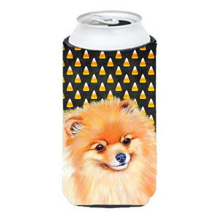 Pomeranian Candy Corn Halloween Portrait Tall Boy bottle sleeve Hugger - 22 To 24 oz. - Halloween Pomeranian