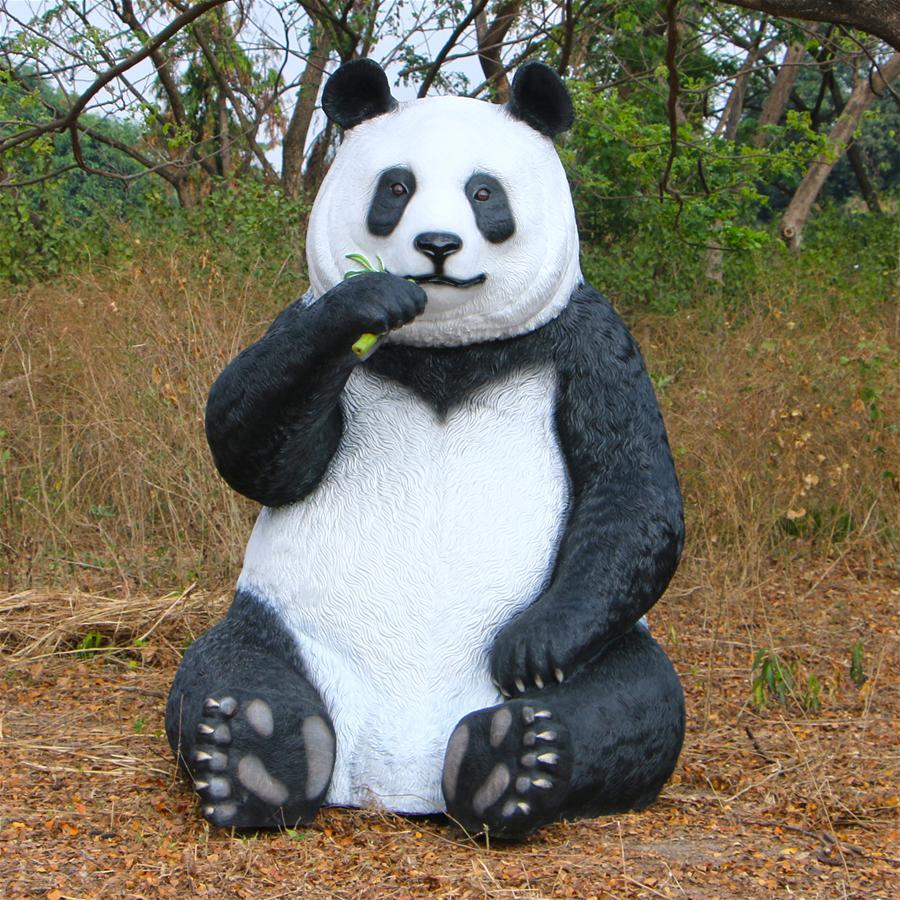 Fantong Oversized Giant Panda Bear Statue With Paw Seat Walmart Com