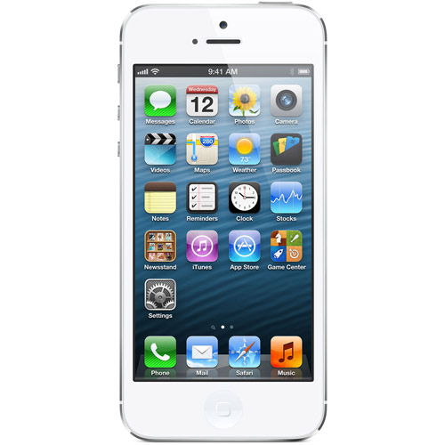 Straight Talk Apple iPhone 5 64GB White Prepaid Smartphone