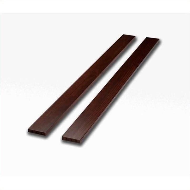 Sorelle Newport Mini Porta Crib Twin Size Bed Conversion Side Rails in Merlot by Sorelle Furniture