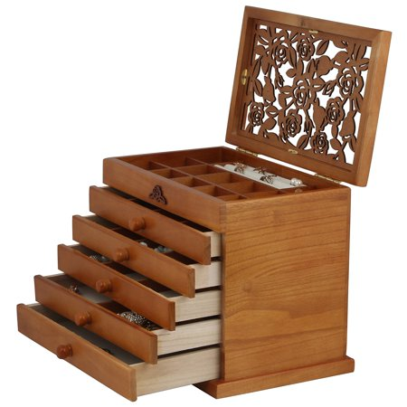 Wooden Jewelry Case - Real wood / Wooden Jewelry Box Case SI-JC866