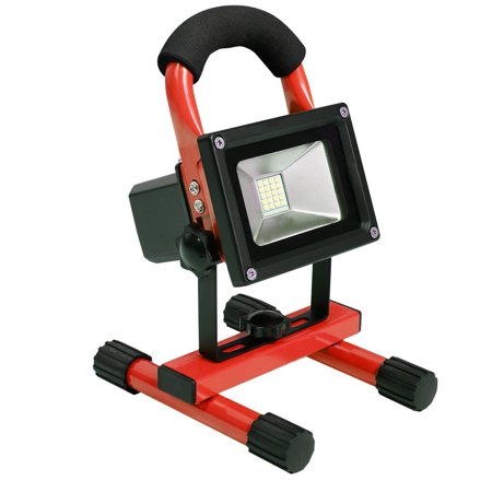 Portable 10w Cordless Work Light Rechargeable LED Flood Spot Camping Lamp (Red) By Giantex