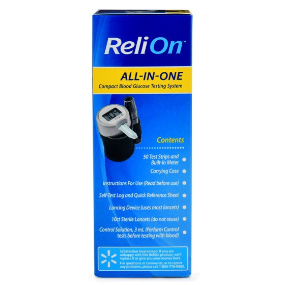 relion all in one compact blood glucose testing system walmart com